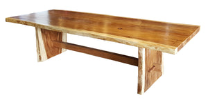 "Suar Live Edge Unique Slab Dining/Conference Table - 138"" Long (choice of table tops) - La Place USA Furniture Outlet"