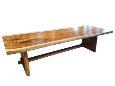 Suar Live Edge Unique Slab Dining Table - 118