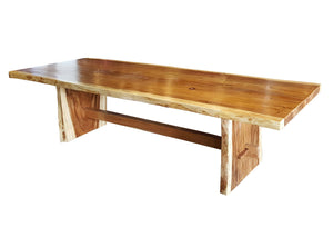 "Suar Live Edge Unique Slab Dining Table - 118"" Long (choice of table tops) - La Place USA Furniture Outlet"