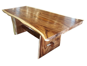 "Suar Live Edge Unique Slab Dining Table 98"" Long (choice of table tops) - La Place USA Furniture Outlet"