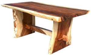 "Suar Live Edge Slab Dining Table - 79"" Long - La Place USA Furniture Outlet"