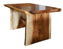 "Suar Live Edge Slab Unique Dining Table - 59"" Long (choice of table tops) - La Place USA Furniture Outlet"