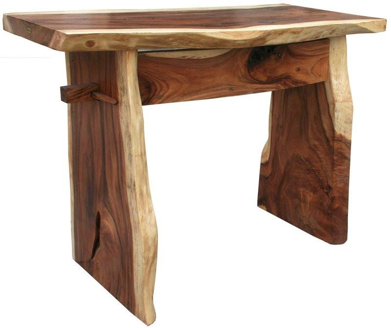 Suar Live Edge Bar, 118 Inch - La Place USA Furniture Outlet