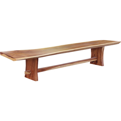 Suar Live Edge Slab Backless Bench, Approximately 118