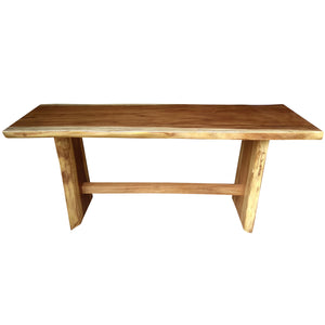 Suar Live Edge Unique Slab Bar Table, 98 Inch - La Place USA Furniture Outlet