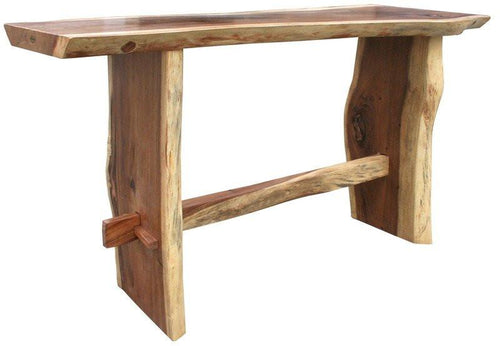 Suar Live Edge Unique Slab Bar Table, 79 Inch - La Place USA Furniture Outlet