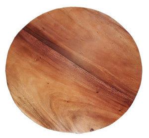 "Suar Live Edge Round Coffee Table - 32"" - La Place USA Furniture Outlet"