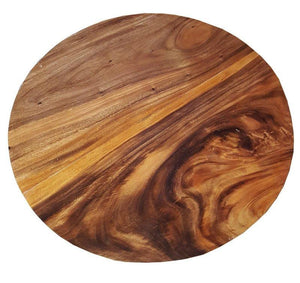 "Suar Live Edge Round Coffee Table - 40"" - La Place USA Furniture Outlet"