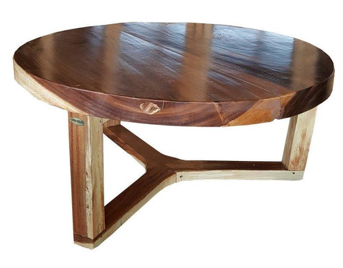 Suar Live Edge Round Coffee Table - 40