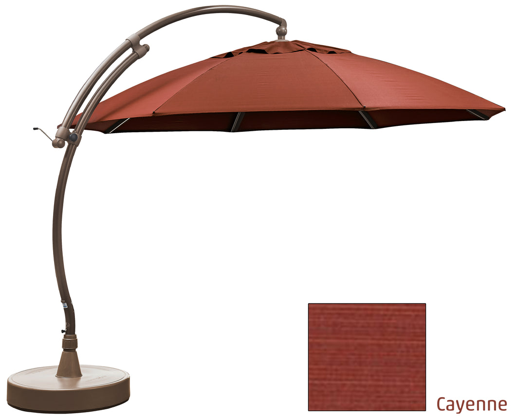 Sun Garden 13 Ft. Easy Sun Cantilever Umbrella and Parasol, the Original from Germany, Cayenne Canopy with Bronze Frame - La Place USA Furniture Outlet