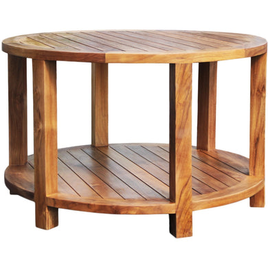 Teak Bahama Round Coffee Table-Chic Teak