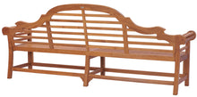 Teak Wood Lutyens Quadruple Bench, 8 Foot - La Place USA Furniture Outlet