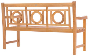 Teak Wood Double-O Bench, 5 Foot - La Place USA Furniture Outlet