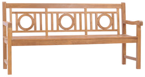 Teak Wood Triple-O Bench, 6 Foot - La Place USA Furniture Outlet