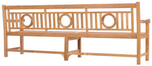 Teak Wood O Bench Extra Large, 8 Foot - La Place USA Furniture Outlet