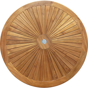 Teak Wood Sun Table, 47 Inch - La Place USA Furniture Outlet
