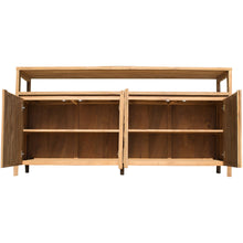 Recycled Teak Mozaik Media Center / Buffet with 4 Wooden Doors - La Place USA Furniture Outlet