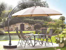 Sun Garden 13 Ft. Easy Sun Cantilever Umbrella and Parasol, the Original from Germany, Heather Canopy with Bronze Frame - La Place USA Furniture Outlet