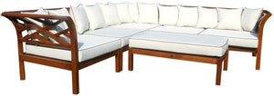 Teak Wood Long Island Sectional, 6 Pieces - La Place USA Furniture Outlet