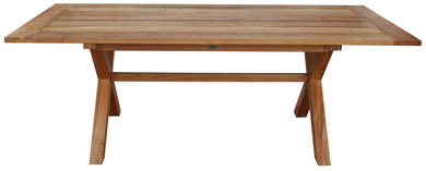 Teak Cross Dining Table 87