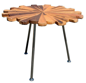 Teak Wood Matahari Side Table - La Place USA Furniture Outlet