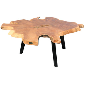 Teak Wood Abstract Coffee Table