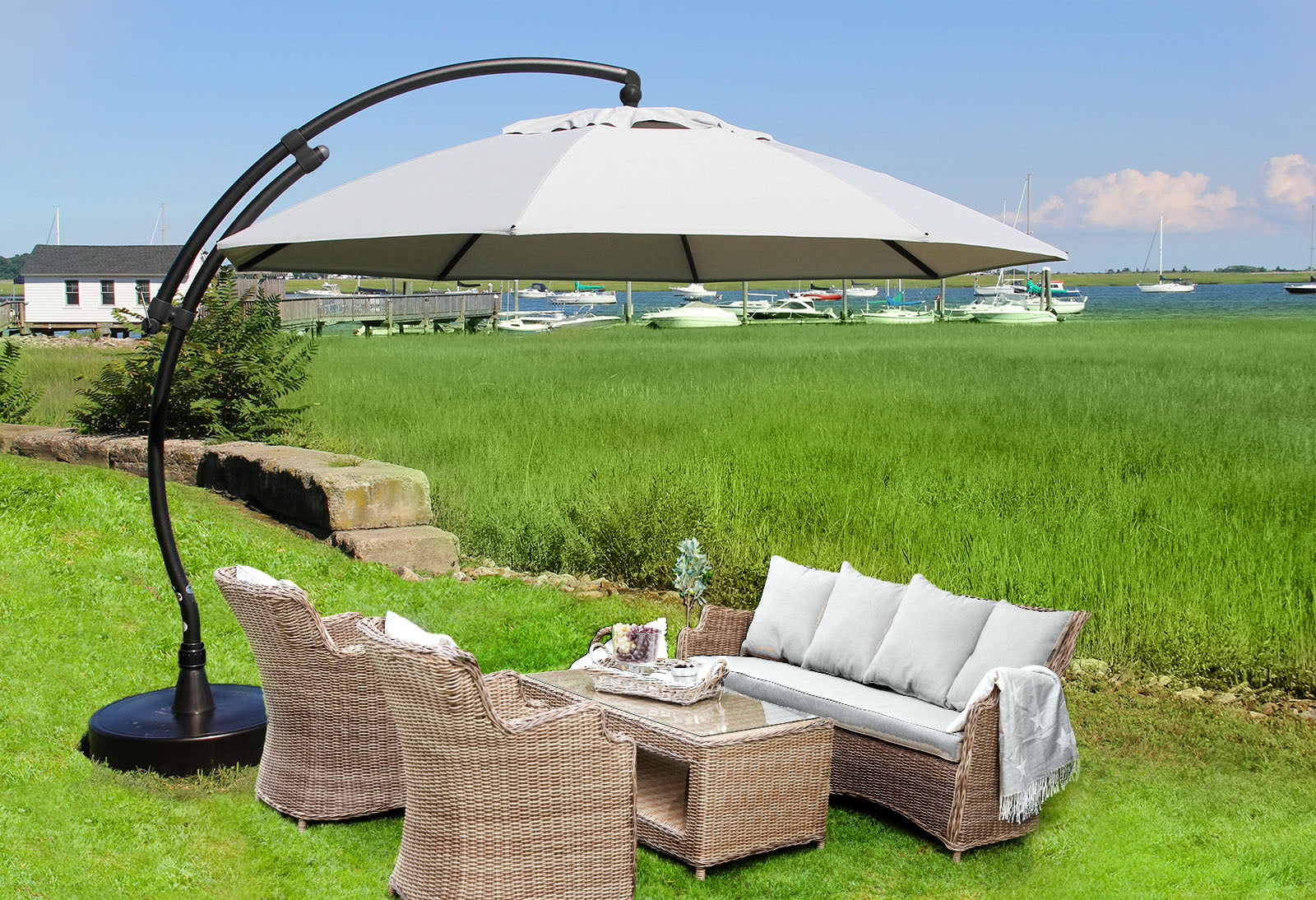 Great ... Sungarden Umbrella 13 Ft, The Original From Germany, Color Heather   La  Place USA ...