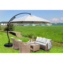 Sun Garden 13 Ft. Easy Sun Cantilever Umbrella and Parasol, the Original from Germany, Natural Canopy with Bronze Frame - La Place USA Furniture Outlet