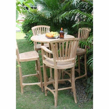 Teak Orleans Barstool With Arms - La Place USA Furniture Outlet