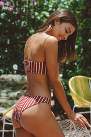 nora swimwear valentina bottom bikini stripes