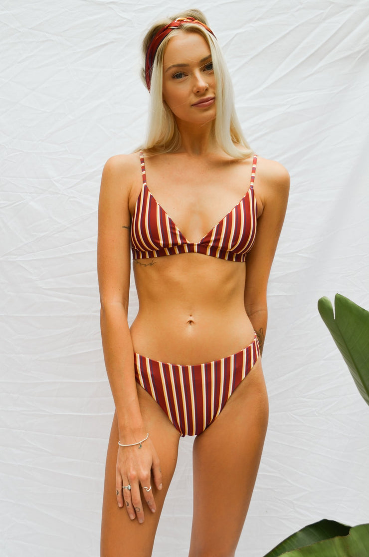 nora swimwear andi bikini top sorrento stripes italy