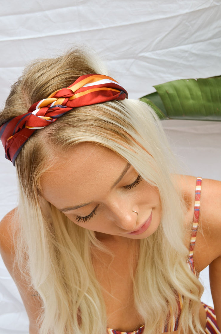 Braided Headband - Sorrento Stripes
