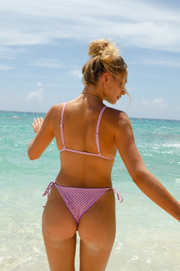 Stevie Bottom - Positano Print Pink