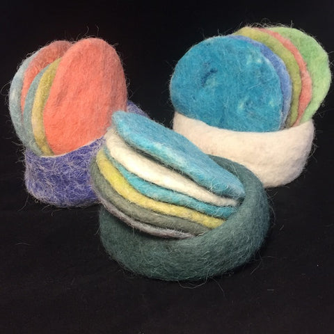 Felted Nested Coaster Set
