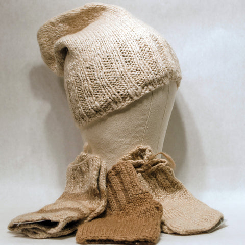 Camel Wool Knit Cap