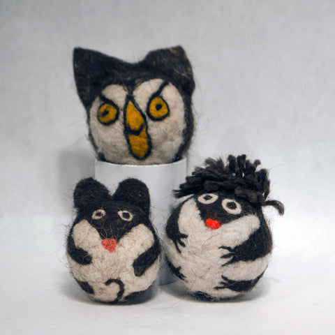 Needle-Felted Cat Toys