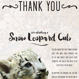 Snow Leopard Cub Adoption