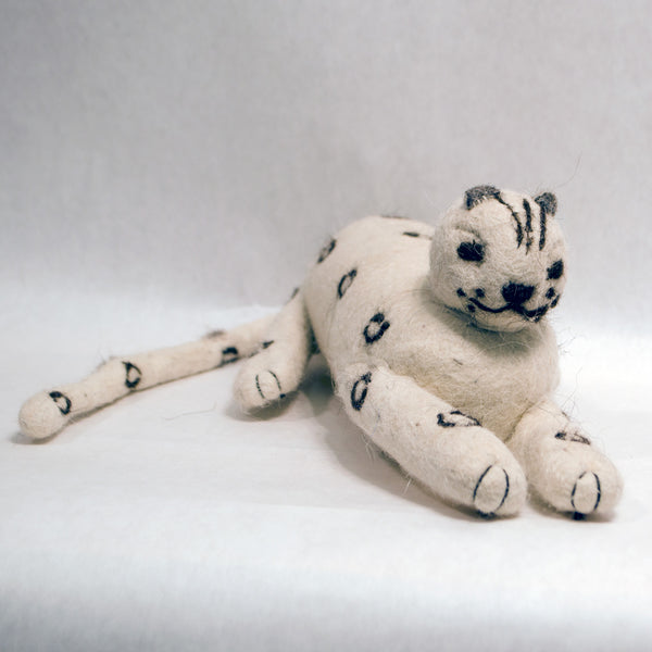 Felted Folk Art Snow Leopard