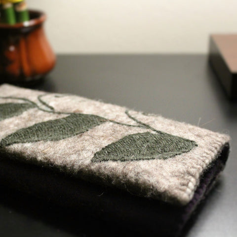 Felted Wool Tri-Fold Wallet