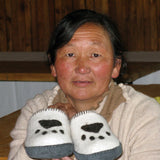 Mongolian Paw Print Slippers