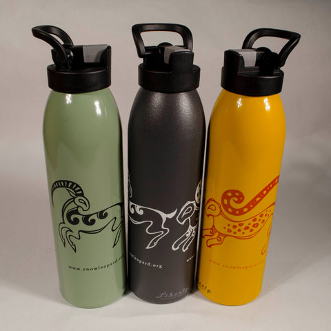 Snow Leopard & Ibex Water Bottle