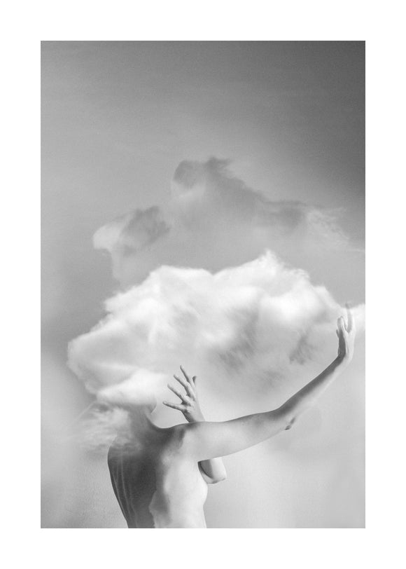 #13 (Cloud) printed on metal by Maja Planinac