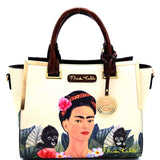 Authentic Frida Kahlo Jungle Series Tote w/Strap (Black)