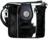 New Delila Leather Hair-On Hide Crossbody
