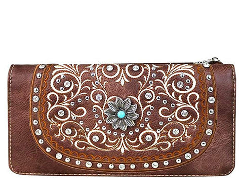 Montana West Secretary Style Studded Wallet Collections