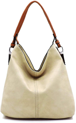 Le Miel Simple Elegant 3-Compartment Hobo w/Strap - New Colors!