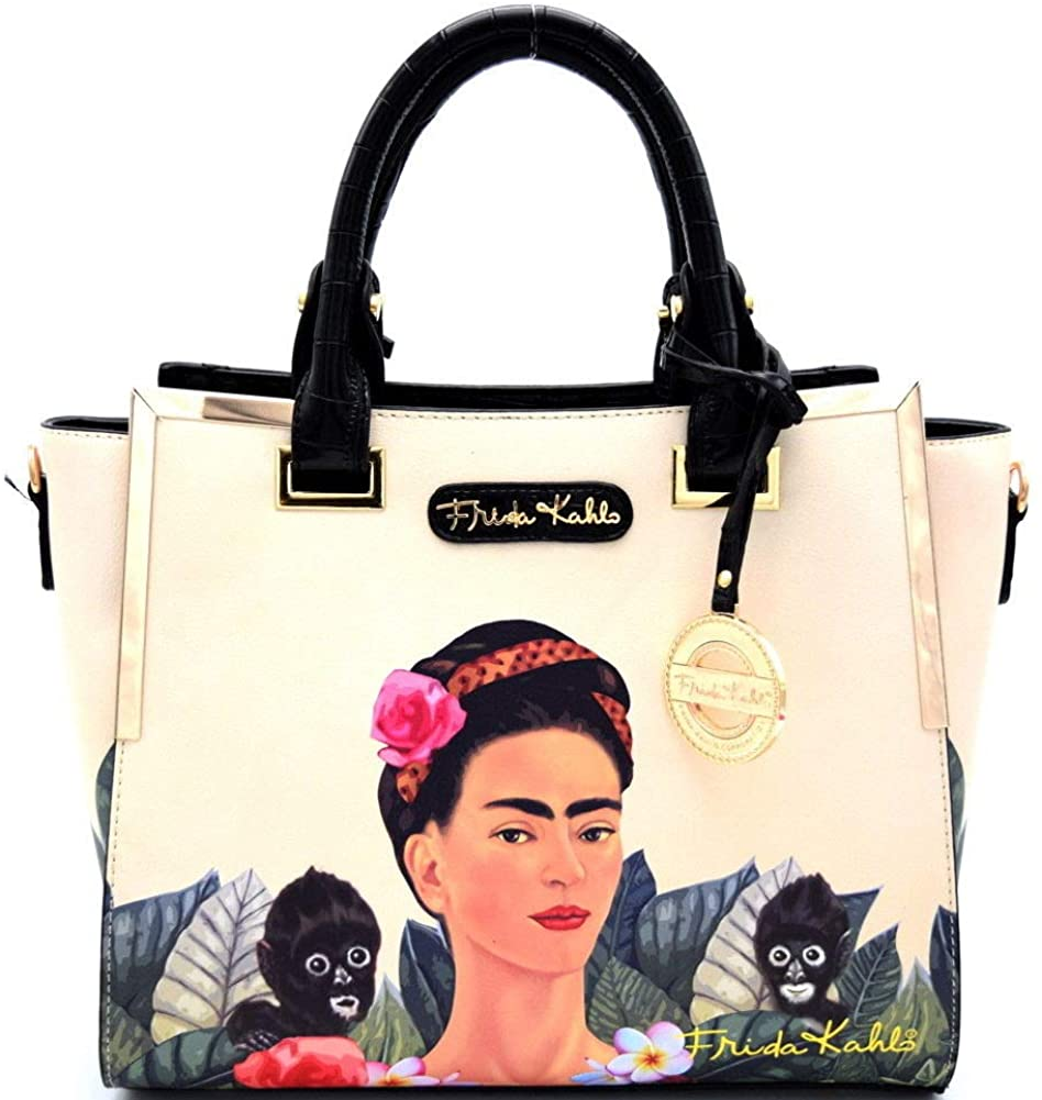 Authentic Frida Kahlo Jungle Series Tote w/Strap (Red)
