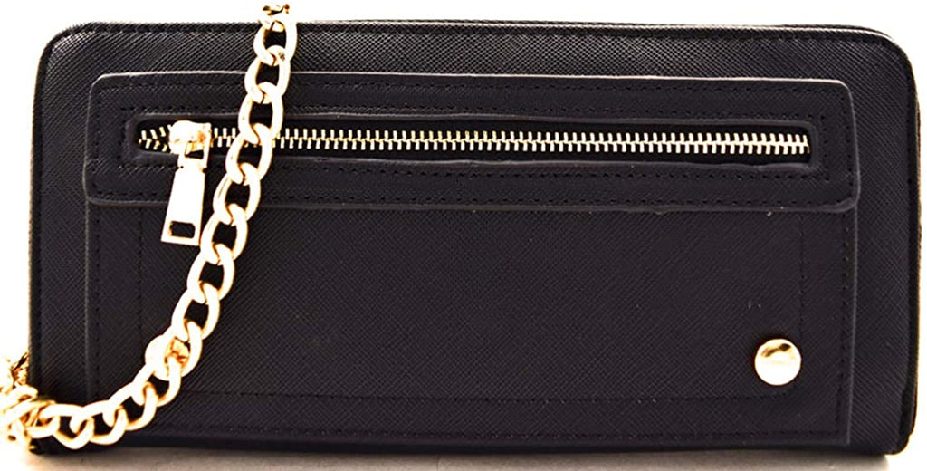 Miztique Zip-Around Multi Pocket Organizer Wristlet Wallet, Large