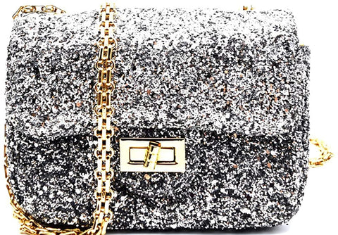 3am Forever Sparkling, Dressy Cross Body Mini Clutch (Silver)