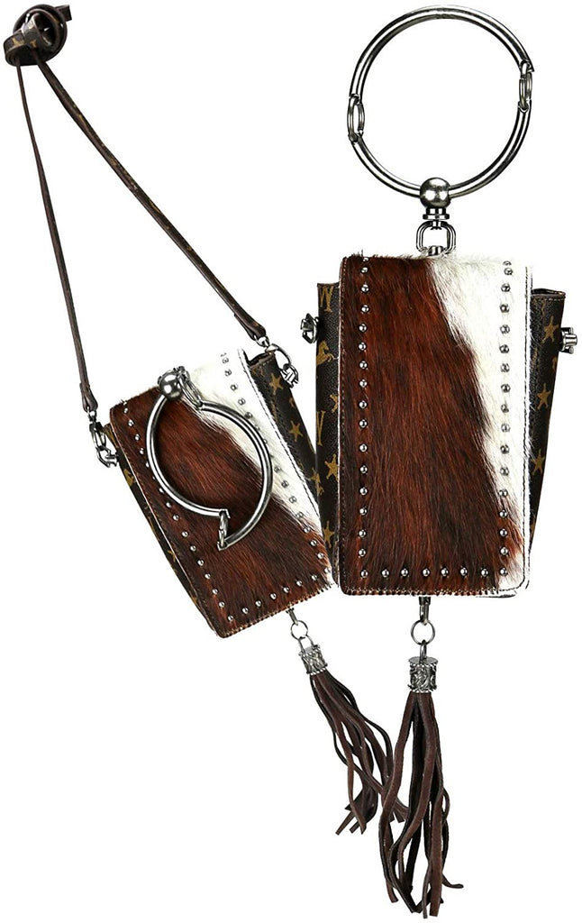 Montana West Signature Monogram Collection Phone Wallet/Crossbody